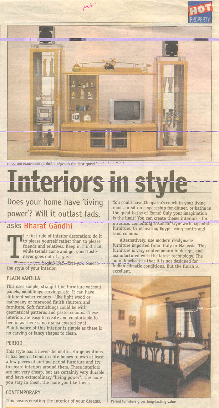 Interiors in style