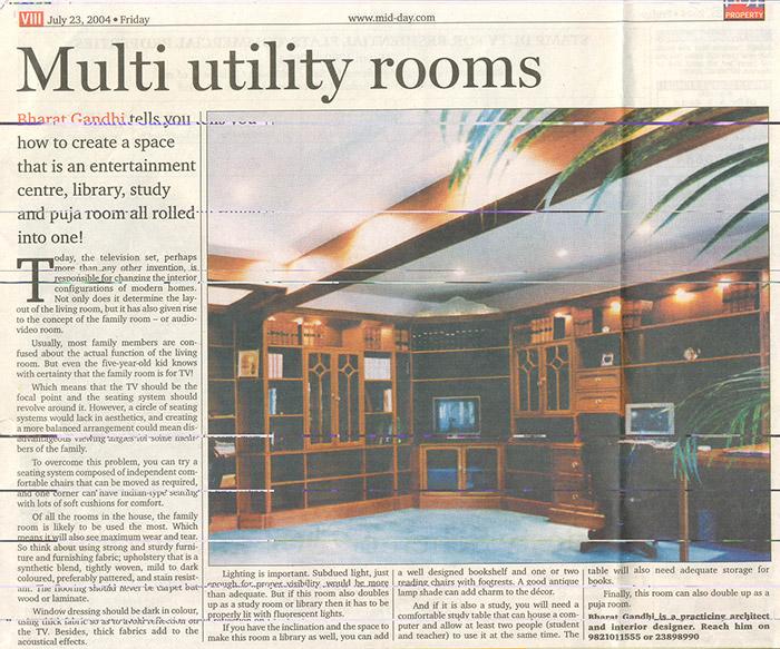 Multi utility rooms