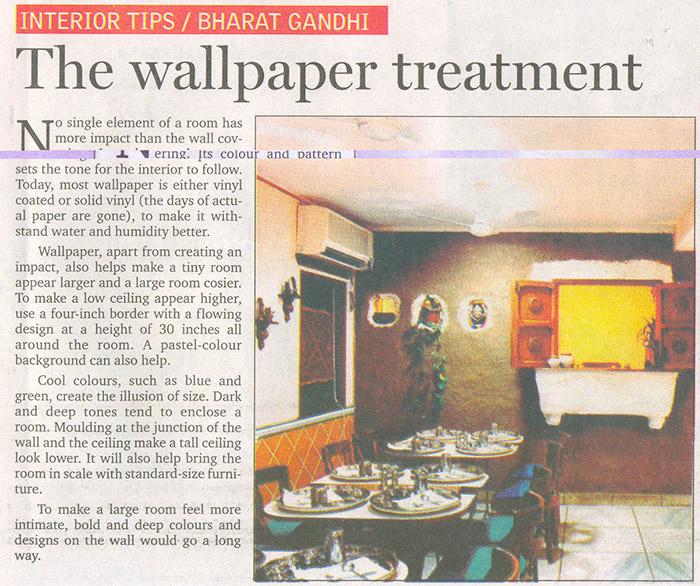 The wallpaper treatment