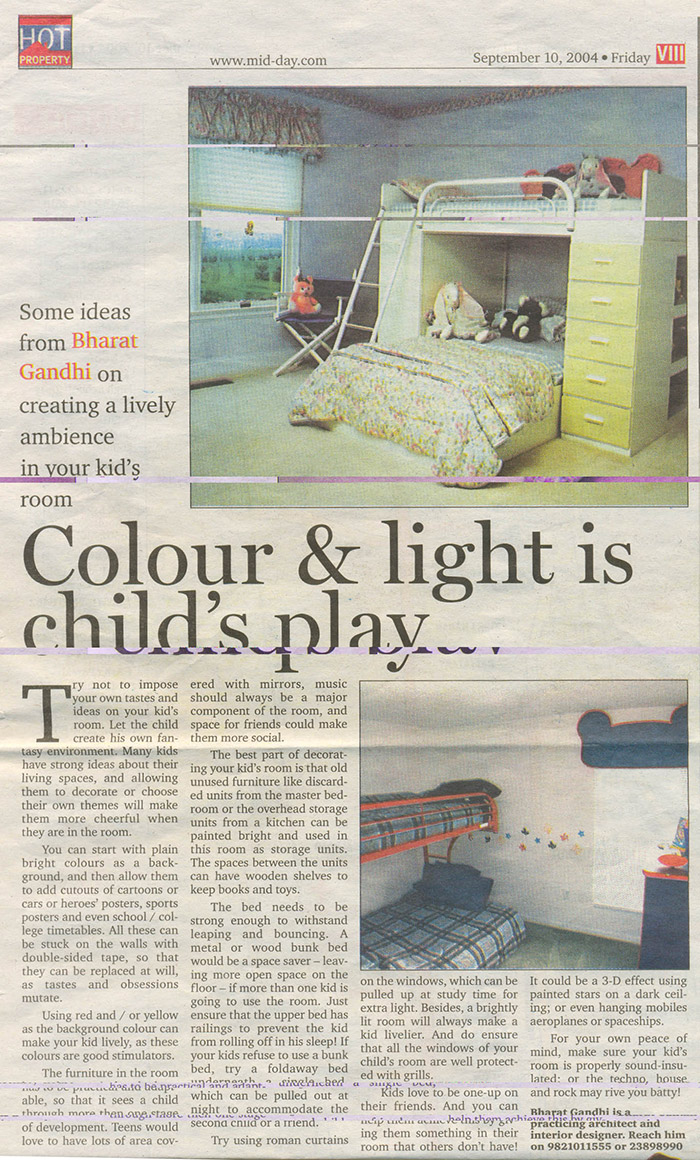 Colour & light is child's play